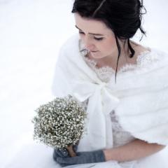 Schneeprinzessin im Schnee