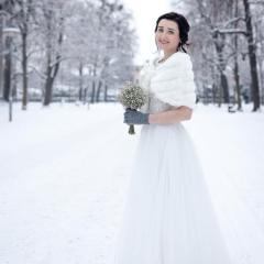 Schneeprinzessin auf Allee